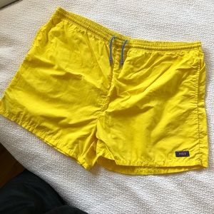 Vintage Polo Sport Yellow Large Swim Trunks